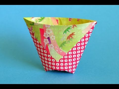 Origami Cup Instructions: www.Origami-Fun.com - YouTube - photo#32