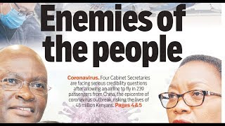 ENEMIES OF THE PEOPLE: Did they have to clear 239 passengers from China,an epicenter of coronavirus?