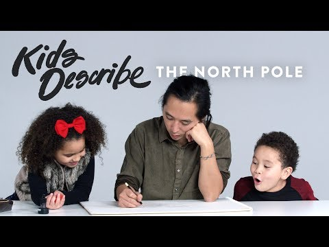 Kids Describe North Pole to Koji the Illustrator | Kids Describe | HiHo Kids