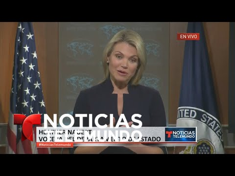 EN VIVO: Rueda de Prensa del Departamento de Estado: Heather Nauert   Noticiero   Telemundo