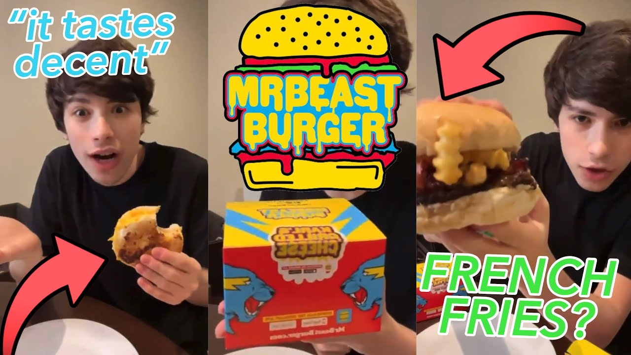 georgenotfound reviews EVERY mrbeast burger! (twitter exclusive)