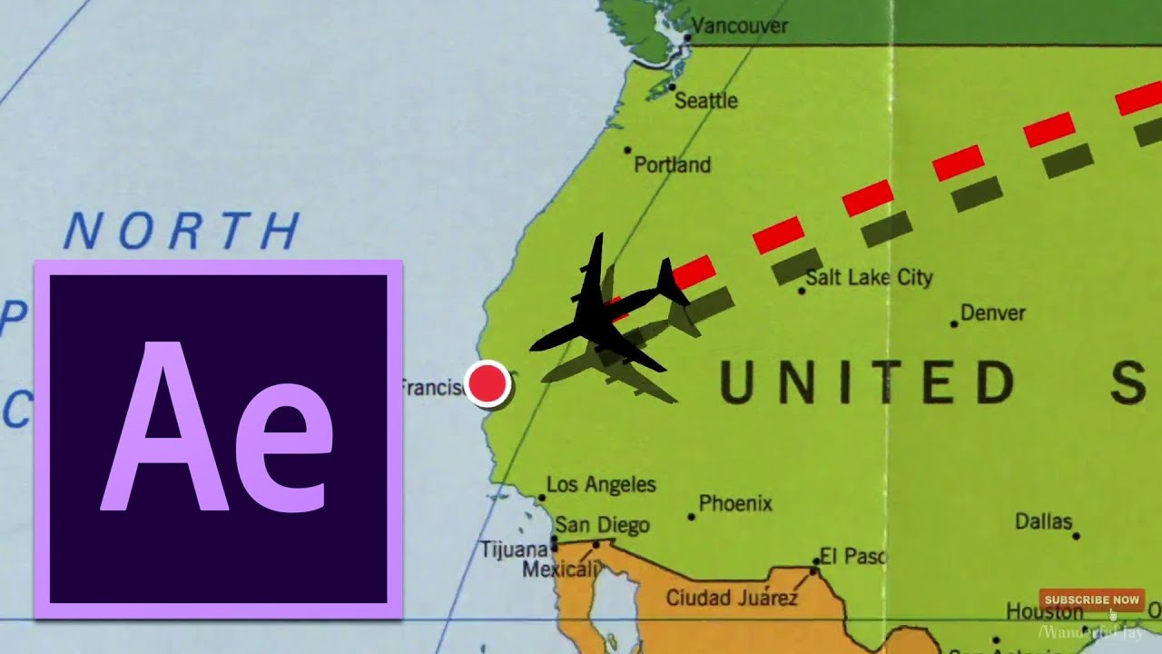 Adobe After Effects Tutorial | Flight Path Animation template on the ...