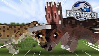 A Dinosaur Battle!!! - Dinosaurs In Minecraft | Jurassic World | Ep10 HD