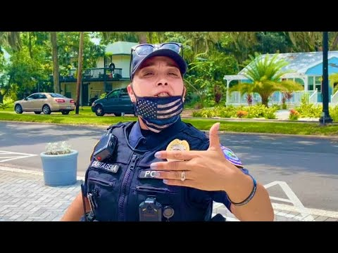 Cop goes crazy over man refusing to wear a face mask in public (EPIC FAIL)