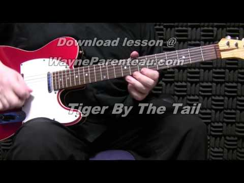 Tiger By The Tail - Guitar Lesson - Don Rich Buck Owens + Backing Track