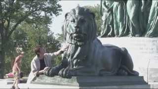 Статуя Ангела - Mонумент  Д.Картье в Монреале