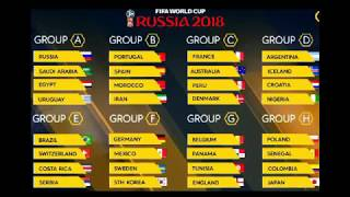 FIFA World Cup Fixtures 2018 Russia