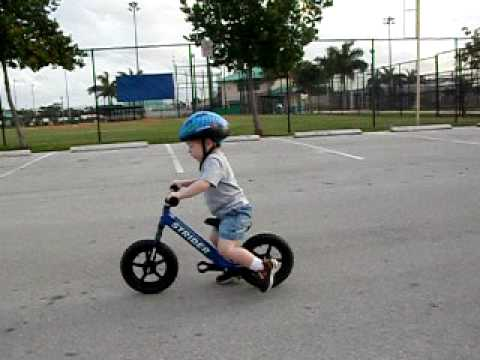 2 Year Old Baron Cruising On His Strider Running Bike Youtube