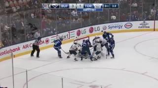 Buffalo Sabres vs Toronto Maple Leafs Game Ending Brawl (Feb 11, 2017)