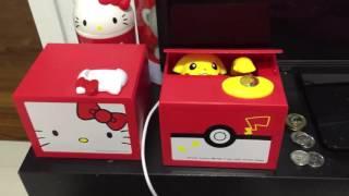 Pikachu vs. Hello Kitty Itazura Coin Bank