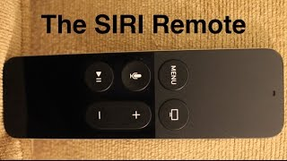 The Apple TV SIRI remote