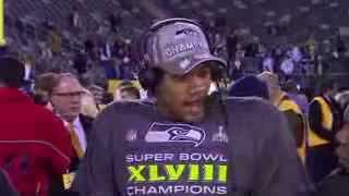"Russell Wilson Talks Super Bowl Victory over Broncos ""We Beat"