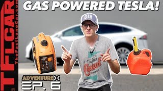 Can You Charge A Tesla With A Portable Generator? We Give it aTry! | Adventure X Ep.6