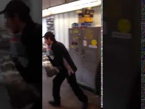 Guy Hides in Portable Tube