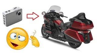 Установка видеорегистратора на мотоцикл.