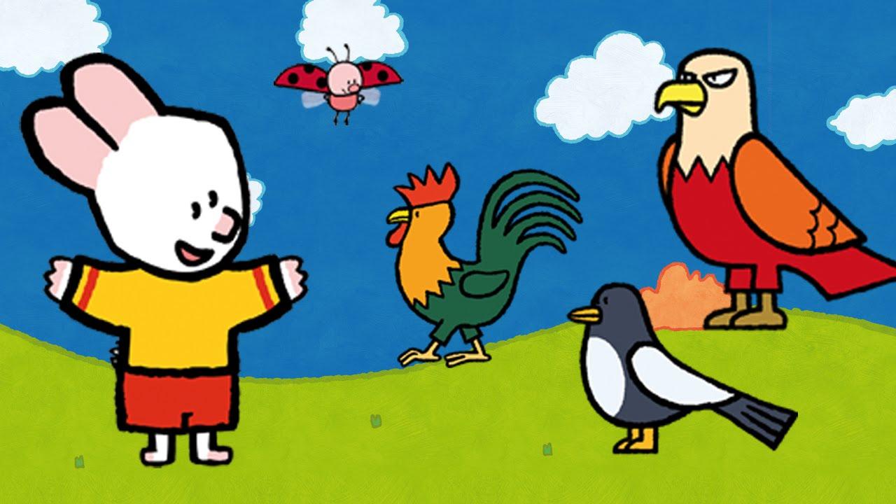 Didou dessine moi une pie un coq et un aigle dessin anim pour les enfants youtube - Coq a dessiner ...