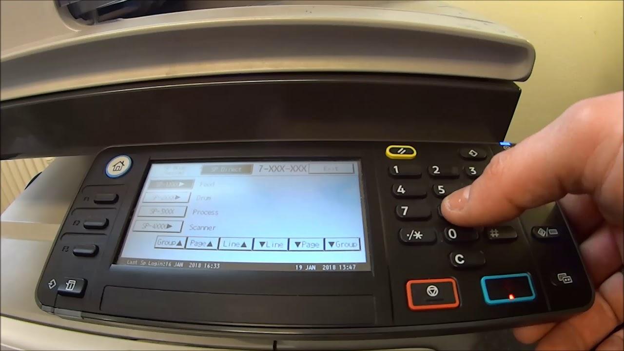 PM Couter reset RICOH Aficio MP301SPF