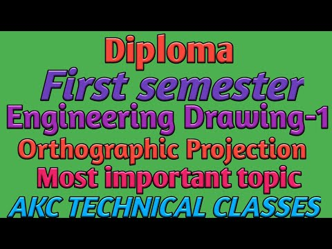 Orthographic Projection. For Diploma first semester students Engineering Drawing-1 most important