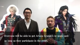 Message from the Producers of FINAL FANTASY BRAVE EXVIUS | Play as ARIANA GRANDE in FFBE today