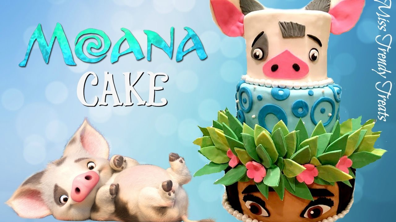Moana Cake Collab W Delicious Sparkly Cakes Miss