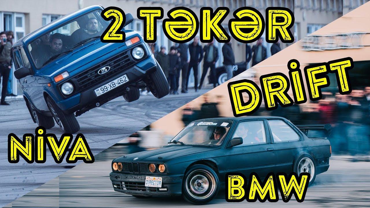 Niva ilə 2 təkər | BMW ilə Drift 🔥 | Bol aksiyonlu VLOG 🤩