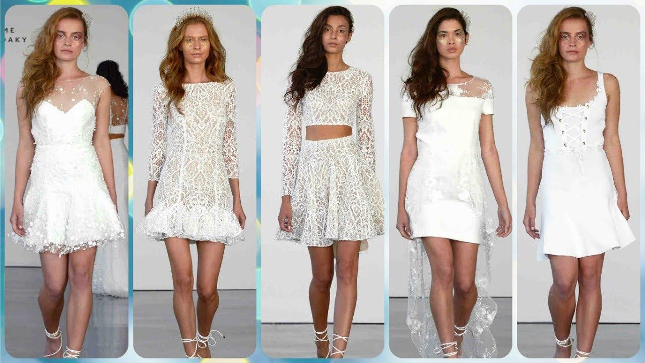 Modelos de vestidos cortos para una boda