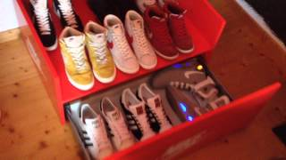 Nike Wood Storage Box With Blazers Dunks Jordans And Air Mags ;)
