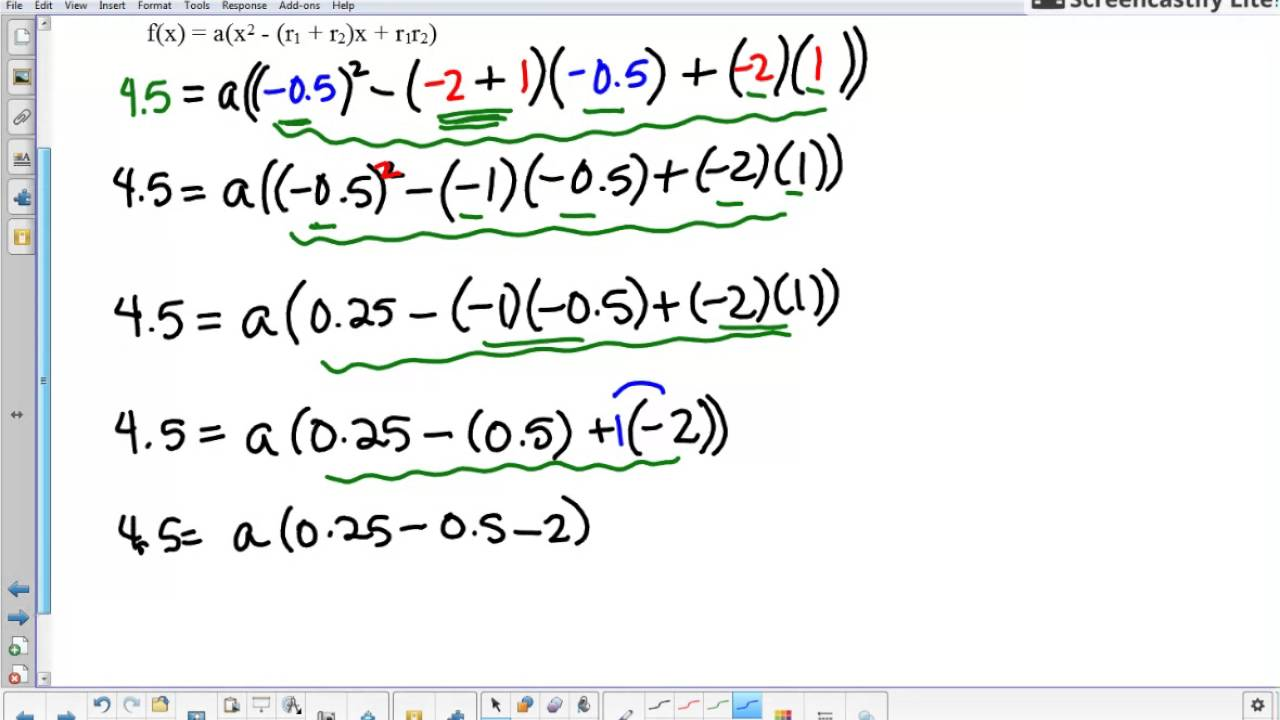 Writing a quadratic function from the roots and the vertex example writing a quadratic function from the roots and the vertex example 2 from 107 review worksheet ibookread PDF