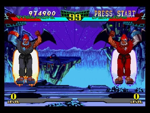 Marvel Super Heroes Vs Street Fighter Ps1 Play As Cyber Akuma Youtube
