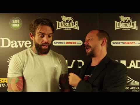 Post-Fight interview with Aaron Chalmers at BAMMA 31