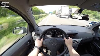 Opel Astra H Caravan 1.3 CDTI (2009) on German Autobahn - POV Top Speed Drive