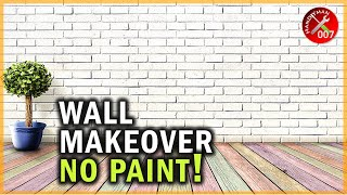 How To Cover An Ugly Wall Without Painting   Brick Wallpaper Bedroom   Budget Small Home Office