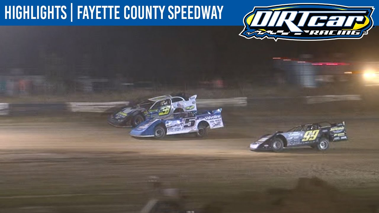 DIRTcar Summer Nationals Late Models Fayette County Speedway August 14, 2020 | HIGHLIGHTS