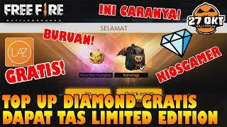 TOP UP Diamond GRATIS Ayo...!!! Dapat TAS BATWINGS Halloween Cuy! - Free Fire