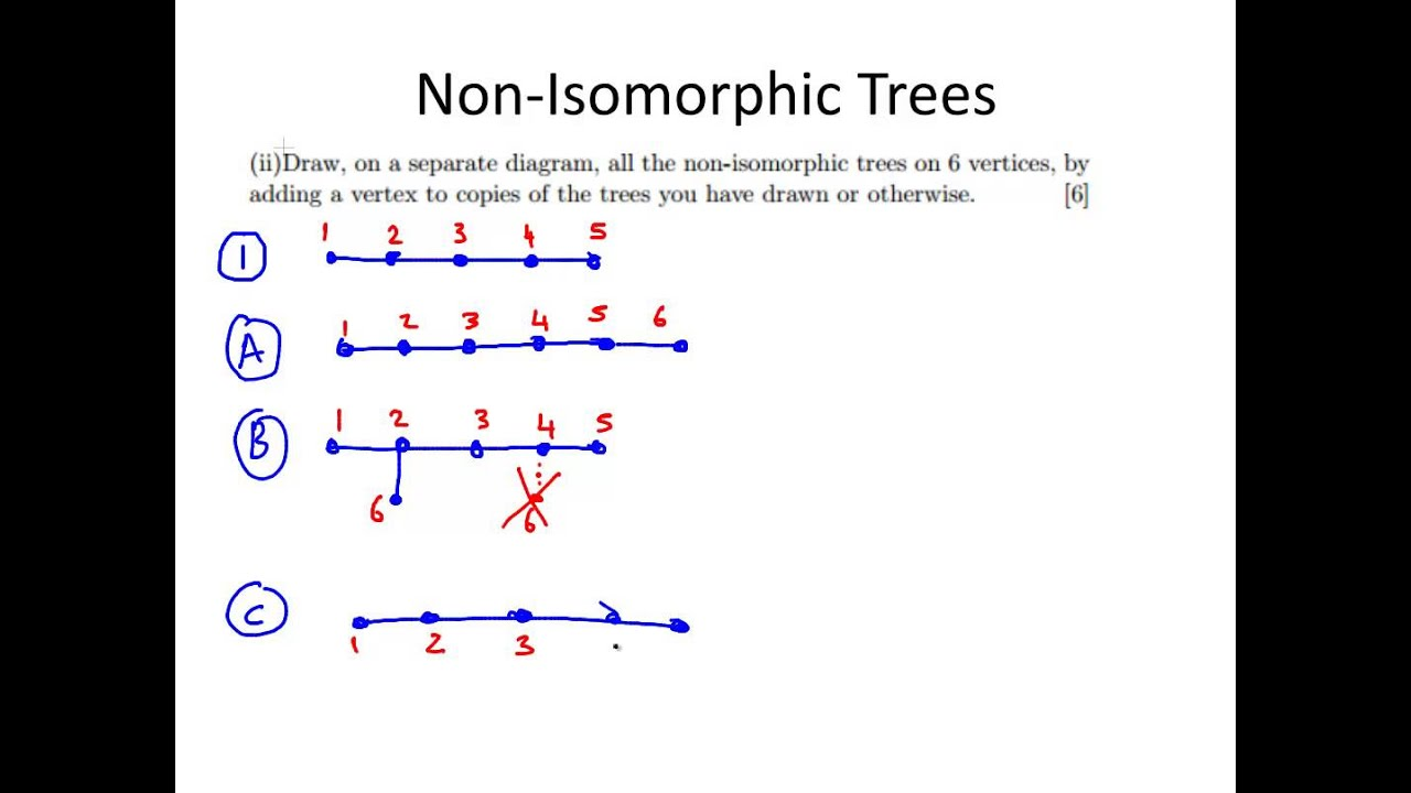 Non isomorphic trees graph theory youtube non isomorphic trees graph theory ccuart Images