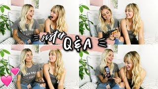 SISTER Q&A!! (boys, conspiracy theories & more) | Aspyn Ovard