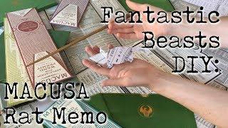 Fantastic Beasts DIY: MACUSA Rat Memo