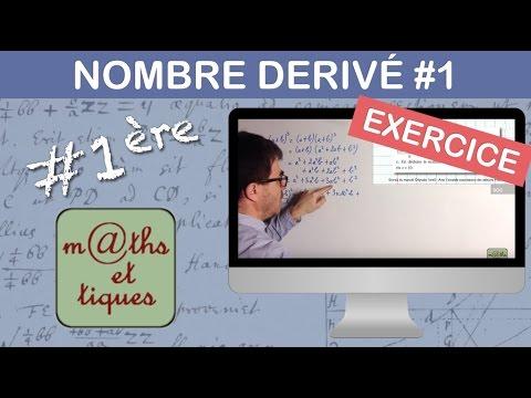 EXERCICE : Calculer le nombre dérivé (Niv.1) - Première (Yvan Monka)