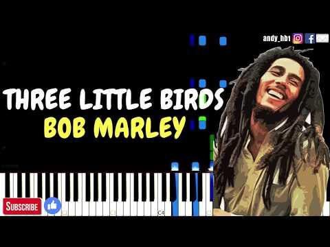 Three Little Birds - Bob Marley & The Wailers | Piano Tutorial / Synthesia / MIDI / Sheetmusic