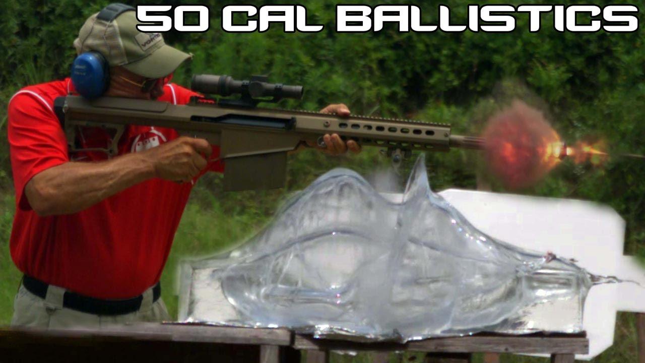 BARRETT  50 CAL vs  BALLISTICS GEL! 50 BMG ballistics testing in SUPER  SlowMo (4K)
