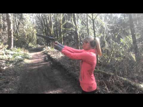 Hot girl shoots1849 Colt Walker .44 Magnum