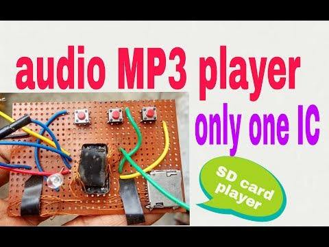 Homemade micro sd card mp3 player usins only 1 ic1845CE5 (part 2)(100% working )