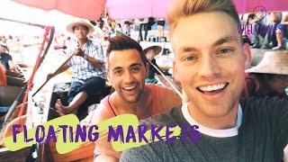 BANGKOK FLOATING MARKET | Travel Vlog | Will and James