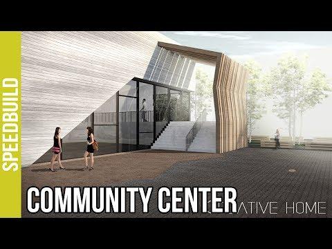 Archicad Speedbuild + Photoshop Post Production - Community Center