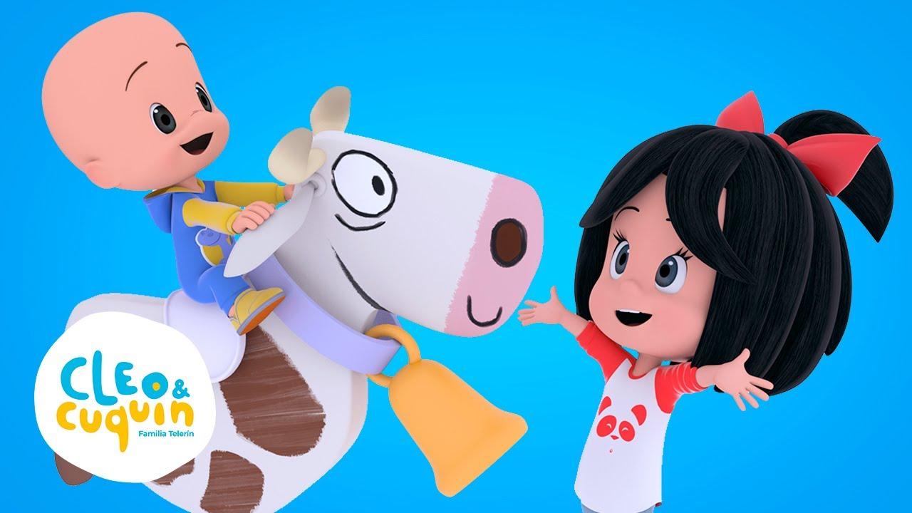 La vaca Lola - Canciones infantiles con Cleo y Cuquín | Familia Telerin