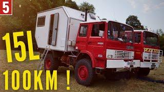 Présentation d'un camion aménagé en campingcar 4x4 #pompier