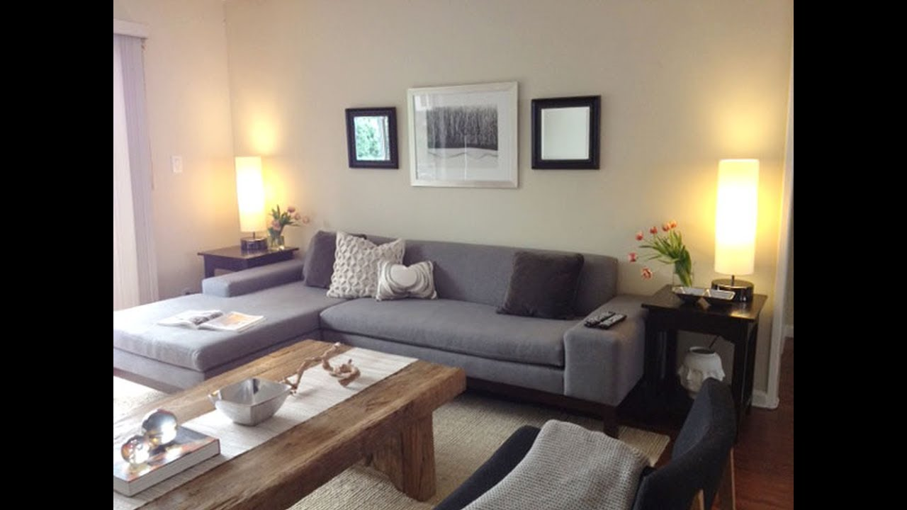 Sectional Living Room Design Gray Paint Ideas Sofa Youtube