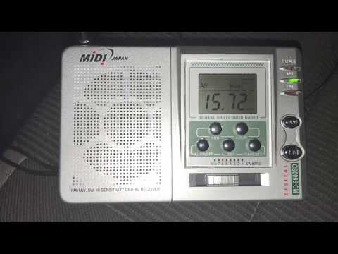 Midi MD-9500SD digital receiver, bought in Rio Capim: Radio New Zealand International 15720 kHz