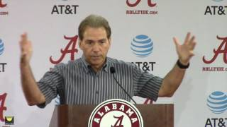 Nick Saban previews LSU, discusses his birthday