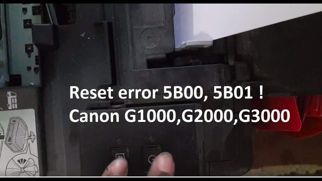 Reset error 5B00, 5B01 ! Canon G1000 service mode free, without key,  software
